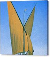 Switzerland, Lake Geneva, Montreux, Sailing Boat Canvas Print