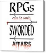 Sworded Affairs Light Canvas Print