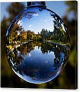 Sycamore Pool Through A Glass Eye Canvas Print