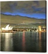 Sydney Harbor At Blue Hour Canvas Print