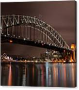 Sydney Harbor At Night Canvas Print