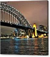 Sydney Harbor Bridge Night View Canvas Print