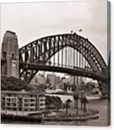 Sydney Harbor Bridge Platinum Canvas Print