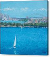 Sydney Harbour And The Opera House Vacation Canvas Print