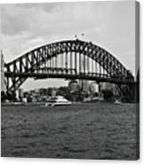 Sydney Harbour Bridge In Black And White Canvas Print