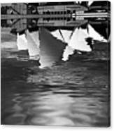 Sydney Opera House Reflection In Monochrome Canvas Print