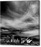 Sydney Skyline With Dramatic Sky Canvas Print
