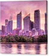 Sydney Tower Skyline At Sunset Canvas Print
