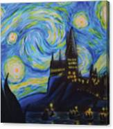 Syfy- Starry Night In Hogwarts Canvas Print