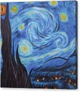 Syfy- Starry Night In Mordor Canvas Print