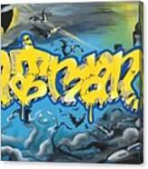 Sykotik And Pystoff Batman Canvas Print