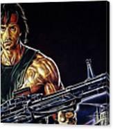 Sylvester Stallone Collection Canvas Print