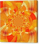 Symmetrical Abstract In Orange Canvas Print