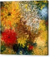 Symphonie De Fleurs Canvas Print