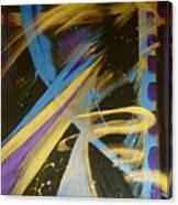 Blue Symphony On Black II Canvas Print