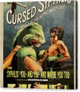 Syphilis Poster Canvas Print