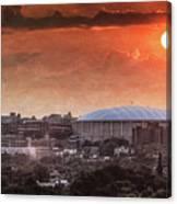 Syracuse Sunrise Over The Dome Canvas Print