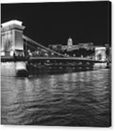 Szechenyi Chain Bridge Budapest Canvas Print