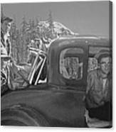 T-04902 Travelling To Climb In Style 1955  Canvas Print