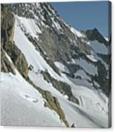 T-104406-b Fred Beckey Below Forbidden Peak Canvas Print