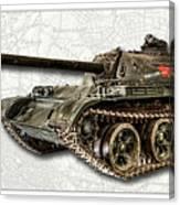 T-54 Soviet Tank W-bg Canvas Print