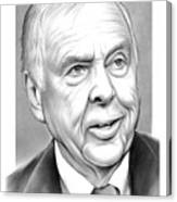 T Boone Pickens Canvas Print