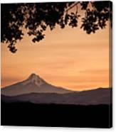 Mt. Hood At Sunset Canvas Print
