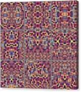 T J O D Mandala Series Puzzle 3 Variations 1-9 Canvas Print