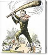 T. Roosevelt Cartoon, 1904 Canvas Print