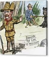 T. Roosevelt: Teddy Bear Canvas Print