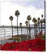 T-street View Of San Clemente Pier Canvas Print