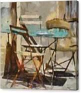 Table Bleue Au Soleil Canvas Print