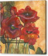 Table Flowers Canvas Print