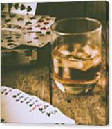 Table Games And The Wild West Saloon  Canvas Print