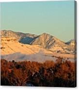 Table Mesa Winter Morning Canvas Print