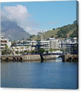 Table Mountain From The V And A Waterfront Quays Canvas Print