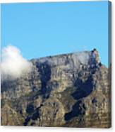 Table Mountain - Still Life With Blue Sky And One Cloud Canvas Print