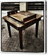 Table That Thought. This Beautiful Canvas Print