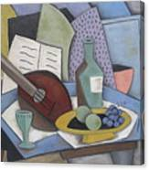 Table With Mandolin Canvas Print