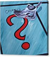 Tacking A Chance Two Canvas Print