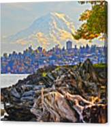 Tacoma In The Fall Canvas Print