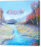 Tadpoling By The River Canvas Print