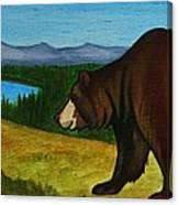 Taggart Lake Bears Canvas Print