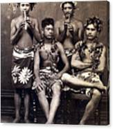 Tahiti: Men, C1890 Canvas Print