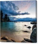 Tahoe Bursting Clouds Canvas Print