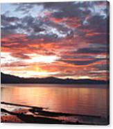 Tahoe June Sunset Canvas Print