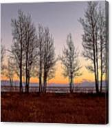 Tahoe Sunset Looking Southwest Canvas Print