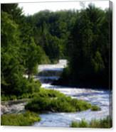 Tahquamenon Lower Falls Upper Peninsula Michigan 12 Canvas Print