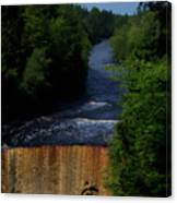 Tahquamenon Lower Falls Upper Peninsula Michigan Vertical 07 Canvas Print