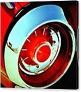Tail Light American Car H B Canvas Print